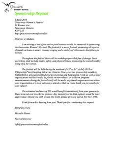 Write a letter requesting sponsorship pinterest fundraising altavistaventures Choice Image