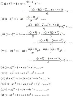 Binomial Theorem for any Index - A Plus Topper Algebra Formulas, Physics Formulas, Physics And Mathematics, Math Teacher, Teaching Math, Math Formula Sheet, Binomial Theorem, Maths Solutions, Math Notes