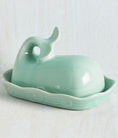 cute whale butter dish