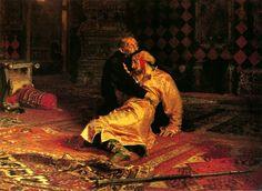 Ivan le Terrible tuant son fils, Ilya Repine, Galerie Tretiakov, Moscou, Russie.