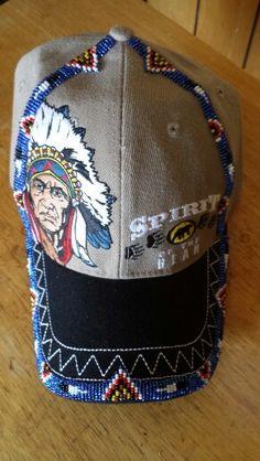 Beaded baseball cap