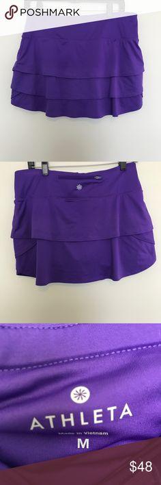 Athleta purple ruffled skirt size medium Athleta purple ruffled skirt size medium, great condition. Athleta Skirts