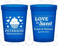 Translucent Blue Stadium Cups, Translucent Blue Cups, Translucent Blue Party Cups, Translucent Blue Wedding Cups (587)
