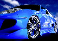 Large-wall-mural-wallpaper-for-home-walls-Speedsteer-super-sports-car-in-blue