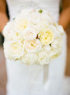 Gorgeous white roses & peony bouquet. Maybe this.. I need a little more pink with crystals and this would be perfect