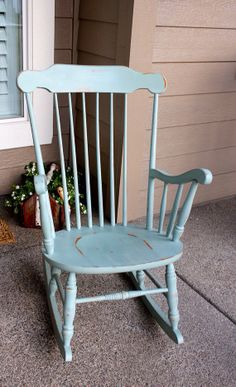 Shabby Chic Rocking Chair by SunnyinPetaluma on Etsy, $100.00