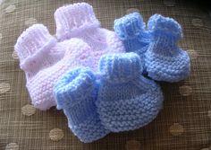 Ravelry: Seamless Preemie Booties pattern by Debbie Cowherd