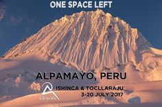 Just one space left on this custom itinerary 3-30 July 2017. The itinerary is 18 days long ex Huaraz and takes in Ishinca Tocllaraju and the majestic Alpamayo.  The maximum group size is 2 guides and 2 clients so that you can decide when and where you climb.  Check out the itineraries at: http://ift.tt/2i1yOmx  #Peru #artesonraju #alpamayo #loveperu #ig_peru #ishinca #urus #tocllaraju #ranrapalca #CordilleraBlanca #mountains #mountaineer #mountaineering #climbing #snow #rock #ice #biophilia…