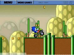 Sonic ATV In Mario Land Game. Play game at http://www.y7games.info/sonic-atv-in-mario-land.html.  You can play Sonic Atv In Mario Land in your browser for free. Sonic is lost in mario land.