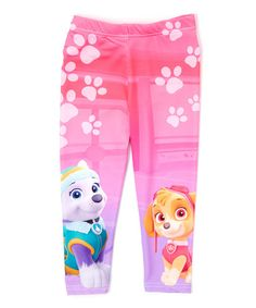 Another great find on #zulily! Pink PAW Patrol Leggings - Toddler #zulilyfinds