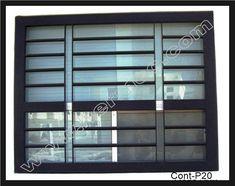 Modelo P20 Protector Contemporaneo de ventana Home Window Grill Design, Window Grill Design Modern, Grill Door Design, Gate Design, Window Design, Modern Design, House Design, Metal Window Frames, Burglar Bars
