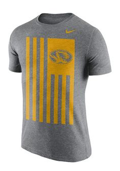 Nike Mizzou Tigers Mens Grey Nation Fashion Tee