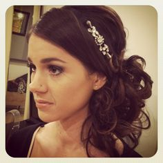Darling wedding updo side pony by Cassie Lynn Gardner
