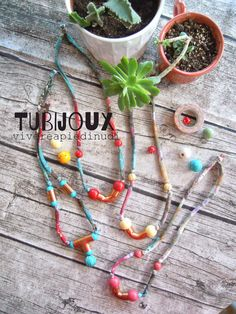 TUBIjoux for the summer! Copper pipes bijoux handmade by Vivere a Piedi Nudi