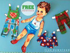 #FREE DOWNLOAD #aankleedpopje jongen & meisje | Studio Poppy via Kinderkamerstylist