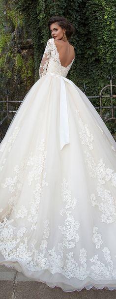 Milla Nova 2016 Bridal Wedding Dresses / http://www.deerpearlflowers.com/milla-nova-wedding-dresses/5/ More