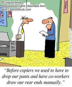 Copier funny cartoons from CartoonStock directory - the world's largest on-line collection of cartoons and comics. Funny Cartoons, Funny Comics, Tech Humor, Man Humor, Puns, Funny Pictures, Geek Stuff, Family Guy, Jokes