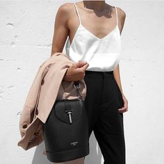 fashionable office look with dusty rose blazer