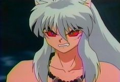 InuYasha possessed by his demon blood - InuYasha screenshot