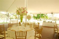 Tent: Photo courtesy of A Joy Wallace Catering