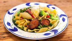 Shell Pasta with Chorizo & Broccoli | Good Chef Bad Chef