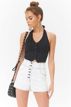 Short De Mezclilla Tiro Alto - Mujer - Pantalones + Shorts - Shorts -  2000276330 - 3aeb4ffc1e2