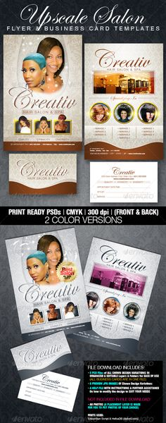 upscale salon flyer amp business card templates print template png letter appointment cards
