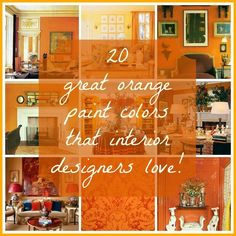 orange-wall-paint-colors from pale to deep