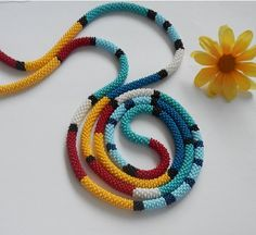Beaded rope-Beaded Crochet Rope  Сrochet von Inspirationzweig