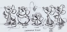 Cinderella's mice as done by Ward Kimball