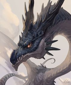 Mantis Dragon by Saki Yamamura on ArtStation. Fantasy, Fantasy Art, Monster, Magical Wolf, Dragon Artwork, Mythical Creatures, Creature Art, Art, Dragon Art