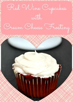 Easy red wine cupcakes topped with delicious cream cheese frosting!
