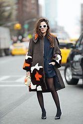 Eleonora Carisi - Fendi Coat, Fendi Bag With Fur Details, Lacoste Dress, Sebastian Shoes, Céline White Shades - New York New York