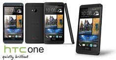 HTC One Black - front, back and side angles