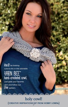 Brave the chilly weather with a handmade cowl neck! (Click on the photo for instructions on how to make your own!)