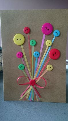 Geburtstagskarte DIY Birthday card DIY The post Birthday card DIY appeared first on DIY. Homemade Birthday Cards, Happy Birthday Cards, Homemade Cards, Diy Birthday, Birthday Greetings, Kids Crafts, Button Cards, Spring Crafts, Creative Cards