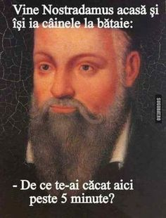 Nostradamus isi bate cainele in avans Future Teller, Angel And Devil, Smile Everyday, Good Jokes, Work Inspiration, Funny Texts, Haha, Funny Pictures, Ebooks