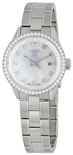 TAG Heuer Women's WV1413.BA0793 Carrera Diamond Bezel Watch