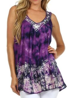 5 Different Color Choicesd Tye Dye Palm Tree Top Under $20 Def Planet