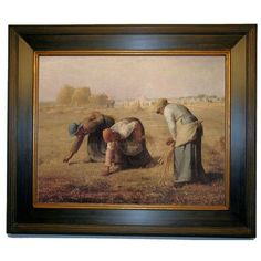 Historic Art Gallery 'The gleaners' by Jean-Francois Millet Framed Painting Print Size: 2