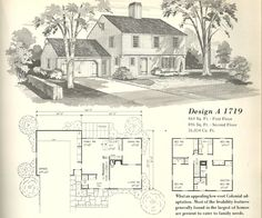 Vintage Farmhouse Plans vintage house plan | vintage house plans 1970s: early colonial