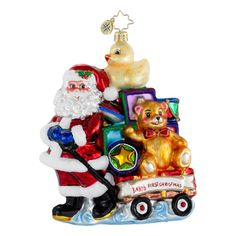 Christopher Radko Ornaments Showered with Toys Baby Christmas Ornament