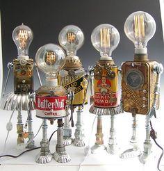 El arte del reciclaje! Lámparas de mesa sorprendentes!