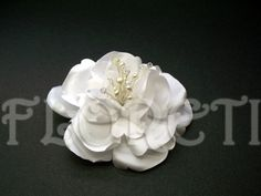 Pure White Abstract-Impressionist LaLuna Magnolia Wedding Dress Pin Bridal Hair Clip Freshwater Pearls Swarovski Crystals This gorgeous Abstract-Impressionist Magnolia flower pin is a must have on your special day Custom-made Boho Chic Wedding Dress, Wedding Dresses With Straps, Fit And Flare Wedding Dress, Sweetheart Wedding Dress, Tea Length Wedding Dress, Country Wedding Dresses, Colored Wedding Dresses, Modest Wedding Dresses, Wedding Gowns