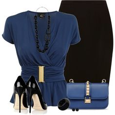 """""""Black and Blue"""" by daiscat on Polyvore"""