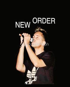 New Order Joy Division Shirt Bernard singing