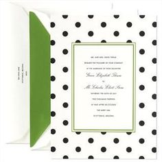 dots on white–kate spade for Crane & Co