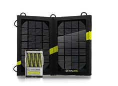 Goal Zero Guide 10 Plus Adventure Kit Solar Charger The Goal Zero Guide 10 Plus Adventure Kit Solar Charger powers up iPad®s and other tablet computers, cell phones, GPS and rechargeable batteries anywhere you go—just add sunlight! Kit Solar, Solar Power Kits, Portable Solar Power, Solar Power System, Portable Battery, Ipod Nano, Radios, Solar Panels For Sale, Entertainment