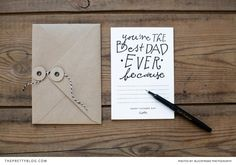 """You're the Best Dad Ever!"" printable card by Elephantshoe 