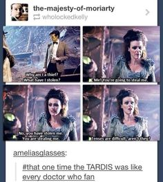Doctor Who and the tenses